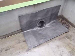 品川区 集合住宅 屋上防水 改修用ドレン設置写真