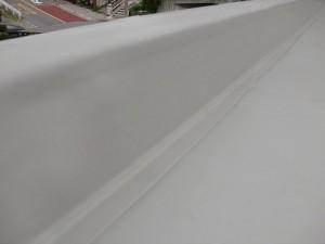 塩ビシート防水立上り施工完了写真