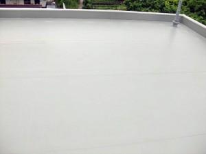 塩ビシート防水施工完了全体
