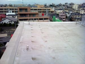 世田谷区集合住宅屋上防水工事施工前全景03写真