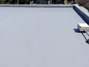世田谷区集合住宅屋上防水工事  FRP防水 施工完了01写真