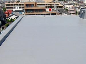 世田谷区集合住宅屋上防水工事  FRP防水 施工完了02写真
