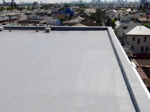 世田谷区集合住宅屋上防水工事  FRP防水 施工完了03写真