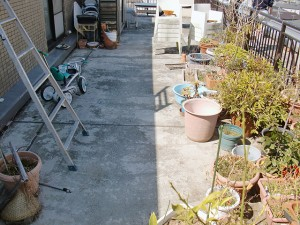 江戸川区西小岩 ウレタン防水施工前写真