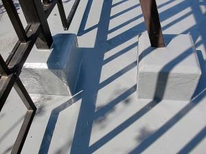 江戸川区西小岩 手摺り架台防水施工後写真