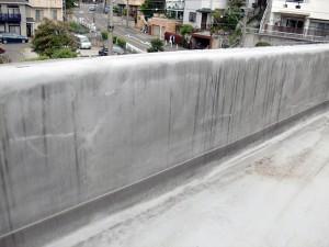塩ビシート防水立上り施工前写真