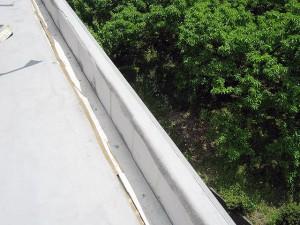 塩ビシート防水立上りシート撤去完了写真