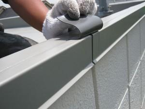 立上り積層鋼板ジョイント部専用パッチ写真