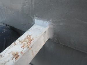 目黒区屋上防水手摺り根元処理2写真