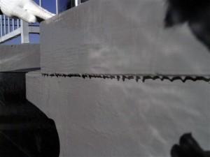 目黒区屋上防水立上り下地調整1写真
