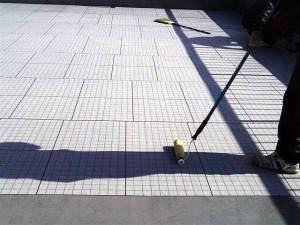 目黒区大岡山屋上防水通気緩衝シート張り2写真