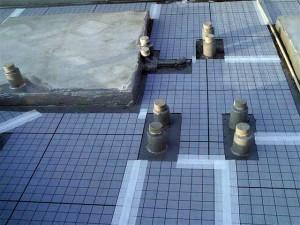 目黒区大岡山屋上防水通気緩衝シートジョイントテープ処理写真