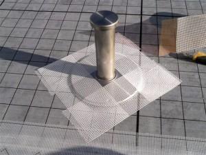 目黒区大岡山屋上防水脱気筒設置2写真