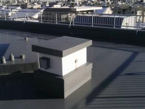 目黒区大岡山屋上防水施工完了2写真