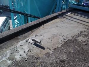 川崎市高津区 工場 屋上防水 撤去跡下地調整1写真
