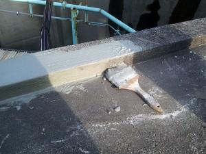川崎市高津区 工場 屋上防水 カチオン系モルタル下地調整1写真