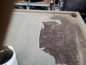 川崎市高津区 工場 屋上防水 カチオン系モルタル下地調整2写真