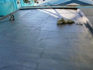 川崎市高津区 工場 屋上防水 プライマー塗布完了写真