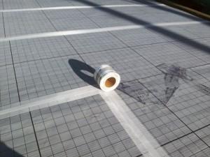 川崎市高津区 工場 屋上防水 シートジョイント メッシュテープ張り写真