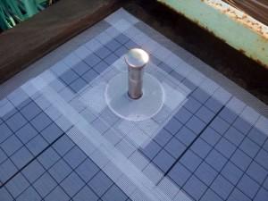 川崎市高津区 工場 屋上防水 脱気筒設置写真