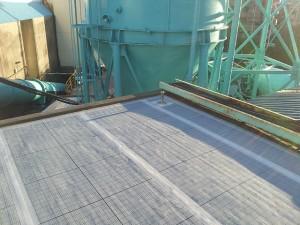 川崎市高津区 工場 屋上防水 通気緩衝シート・テープ処理1写真