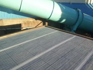 川崎市高津区 工場 屋上防水 通気緩衝シート・テープ処理2写真