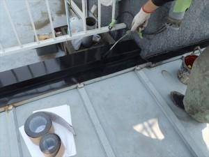 世田谷区喜多見住宅屋根防水 非加硫ゴムシート張り01写真