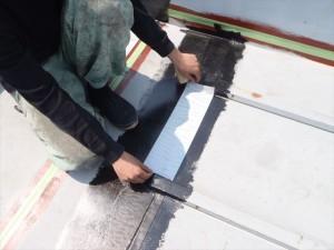 世田谷区喜多見住宅屋根防水 非加硫ゴムシート張り02写真