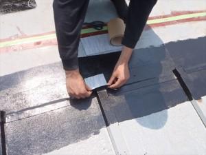 世田谷区喜多見住宅屋根防水 非加硫ゴムシート張り03写真