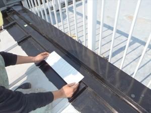 世田谷区喜多見住宅屋根防水 非加硫ゴムシート張り05写真