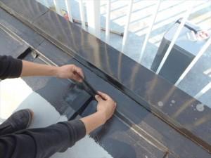 世田谷区喜多見住宅屋根防水 非加硫ゴムシート張り06写真