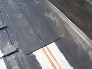 世田谷区喜多見住宅屋根防水 非加硫ゴムシート張り10写真