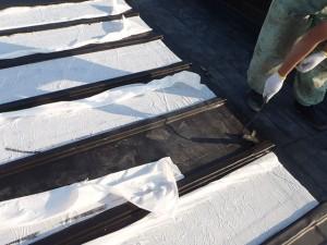世田谷区喜多見住宅屋根防水 非加硫ゴムシート張り12写真