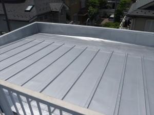 世田谷区喜多見住宅屋根防水 施工完了写真