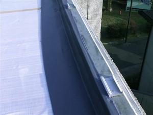 狛江市塩ビシート防水端末シーリング完了写真