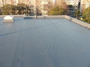 狛江市塩ビシート防水施工完了1写真