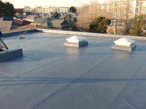 狛江市塩ビシート防水施工完了2写真