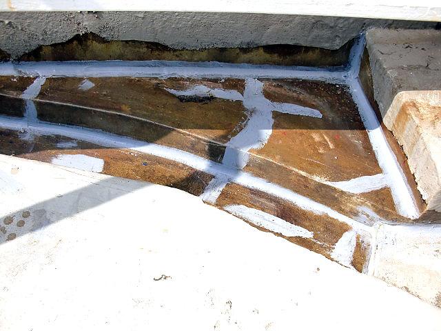 町田市 個人住宅 バルコニーFRP防水下地調整写真