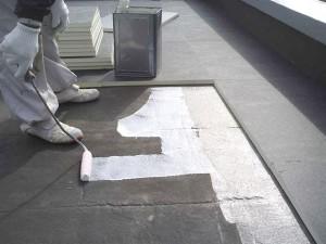 目黒区分譲マンション屋上防水 断熱材貼り1写真