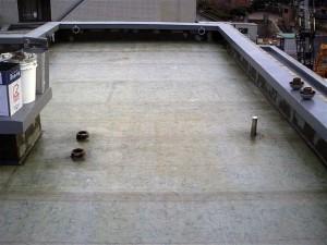 目黒区分譲マンション屋上防水 ポリエステル樹脂含浸・脱泡写真