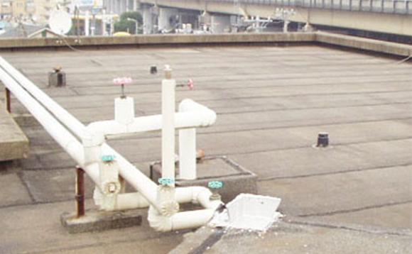 砂付きアスファルト露出防水