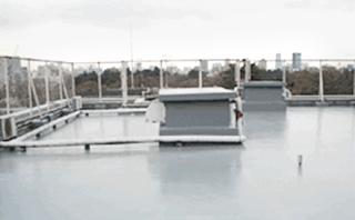 ウレタン防水通気緩衝工法施工後