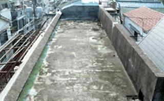 品川区賃貸マンション アスファルト防水コンクリート押さえ施工前