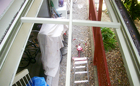 駐輪場屋根塗装:塗装